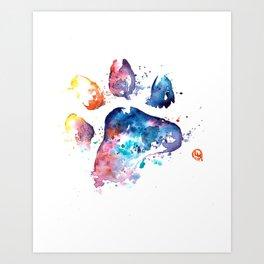 Dog Paw - Watercolor Painting - Pet Art Art Print