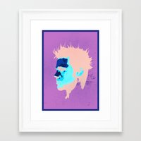 brad pitt Framed Art Prints featuring Brad Pitt Digital illustration by Parveen Verma