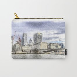 City of London and River Thames Snow Art Carry-All Pouch
