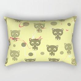 Cute happy kittens Rectangular Pillow