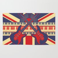british Area & Throw Rugs featuring British Rock by Ornaart