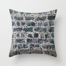 Wall of slag stones Throw Pillow