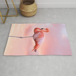 Pink Flamingo Sunset Rug