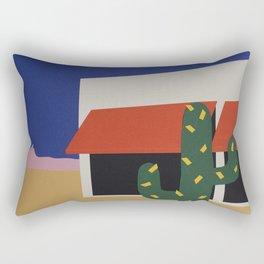Boutique With Cactus Rectangular Pillow
