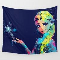 elsa Wall Tapestries featuring Elsa by lauramaahs