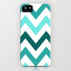 TRI-TONE TEAL CHEVRON Slim Case iPhone (5, 5s)