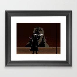 Godzilla 2000 Framed Art Print