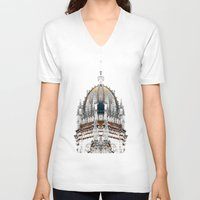 portugal V-neck T-shirts featuring  Jeronimos Monastery, Lisbon, Portugal  by Philippe Gerber