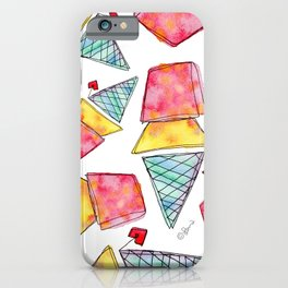 Love You More Than Ice Cream Pattern Food Illustration Love Painting iPhone Case