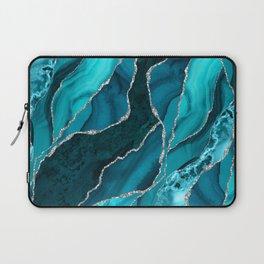 Ocean Waves Marble Teal Laptop Sleeve