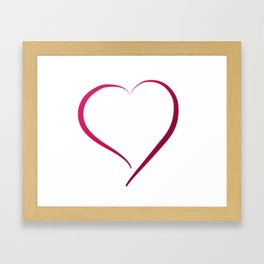 Heart in Style by LH Framed Art Print
