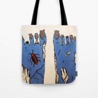 walking dead Tote Bags featuring Walking Dead by Jordan Luckow