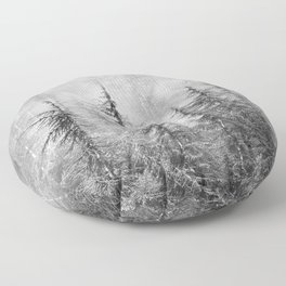 """""""Wilderness"""". Into the foggy mountains Floor Pillow"""