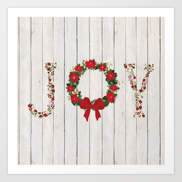 Joy Wreath 2 Art Print By Julianarw Society6