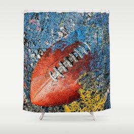 Football art print work 2 Shower Curtain