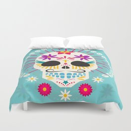 Dios De Los Muertos Day of the Dead Sugar Skull Fiesta Duvet Cover