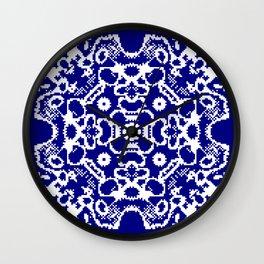 CA Fantasy Deep Blue-White series #1 Wall Clock