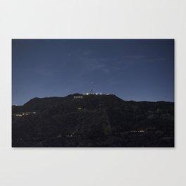 Hollywood At Night Canvas Print
