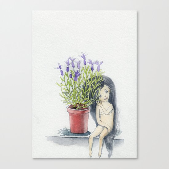 listening to the lavender's breath Canvas Print