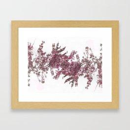 Pink Vine Framed Art Print