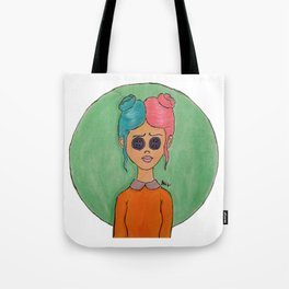 Button Eyed Girl 2 Tote Bag
