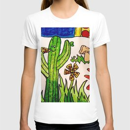Cactus in a pizza paradise T-shirt