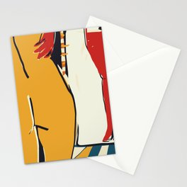 At the mirror Stationery Cards