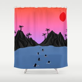 Swim Together Shower Curtain