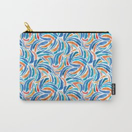 Watercolor Wave Rainbows Carry-All Pouch