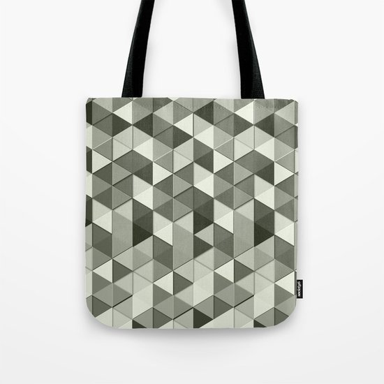 Cool Grayscale triangles geometric pattern Tote Bag