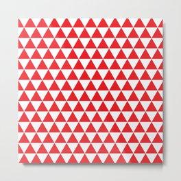 Red Triangle Pattern Metal Print