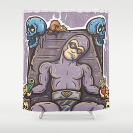 THE GHOST WHO SNACKS Shower Curtain