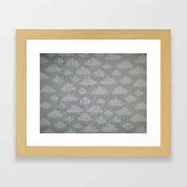 Happy Birthday you awesome person Framed Art Print