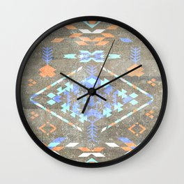 Native Aztec Wall Clock