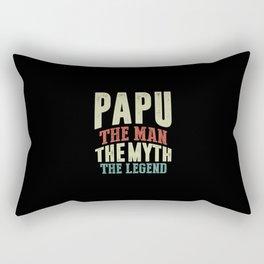 Mens Papu The Man Myth Legend Father Grandpa Gift  Rectangular Pillow