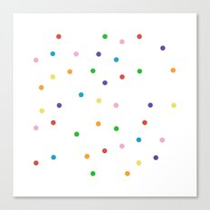 Candy Spots Canvas Print