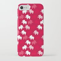 elephants iPhone & iPod Cases featuring Elephants by Jessica Draws