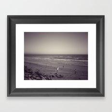 Dog Beach Framed Art Print