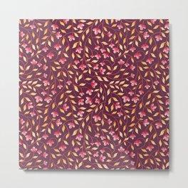 Botanical: Maroon Vine Metal Print