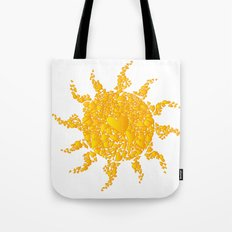 A Sun full of hearts Tote Bag