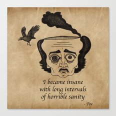 Poe insane Canvas Print