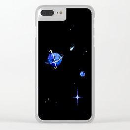 SATURN AND DIONE Clear iPhone Case