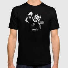 Plushie Rumours Black MEDIUM Mens Fitted Tee