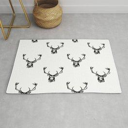 Christmas Deer Stag Antler Pattern Rug