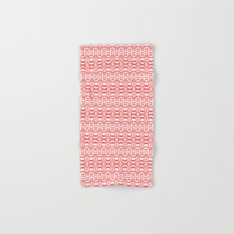 Dividers 07 in Red over White Hand & Bath Towel