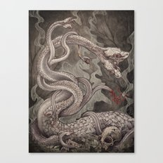 the Lernaean Hydra art print Canvas Print