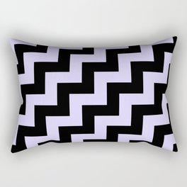 Black and Pale Lavender Violet Steps RTL Rectangular Pillow