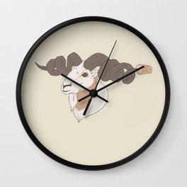 Utilitarian World #1 Colour Wall Clock