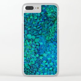 Peacock Watercolor Painting Clear iPhone Case