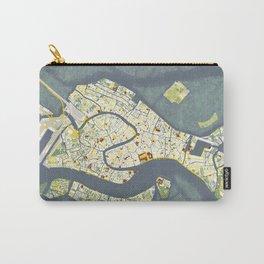 Venice city map antique Carry-All Pouch